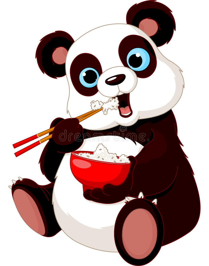 Download Panda eating rice stock vector. Illustration of bear - 25473249