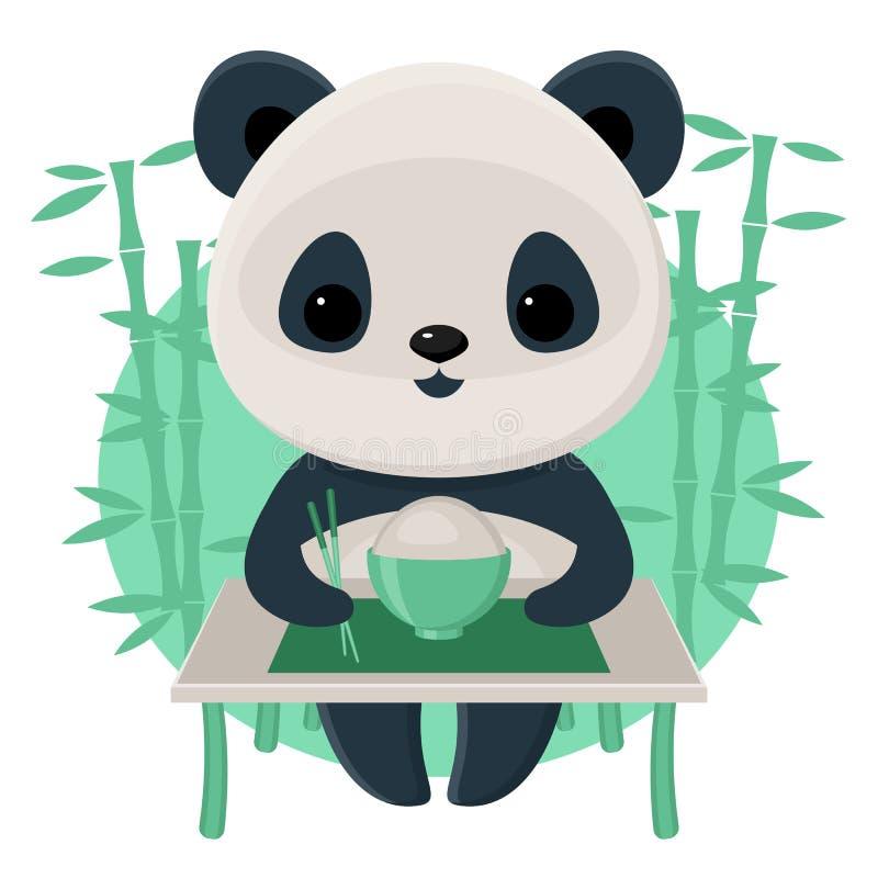 Free Panda Eating Rice Stock Image - 48883051