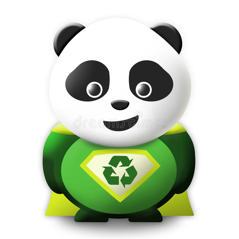 Download Panda Eco Superhero stock illustration. Image of hero - 22723390