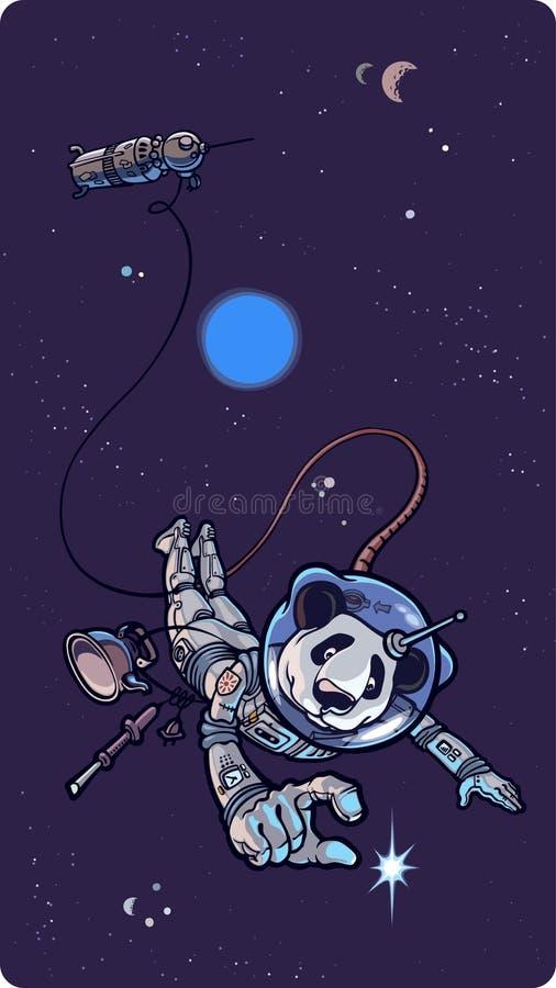 Panda el astronauta. libre illustration
