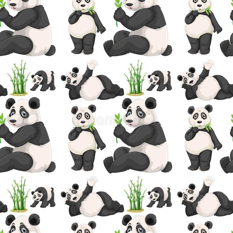 Panda et bambou sans couture illustration libre de droits