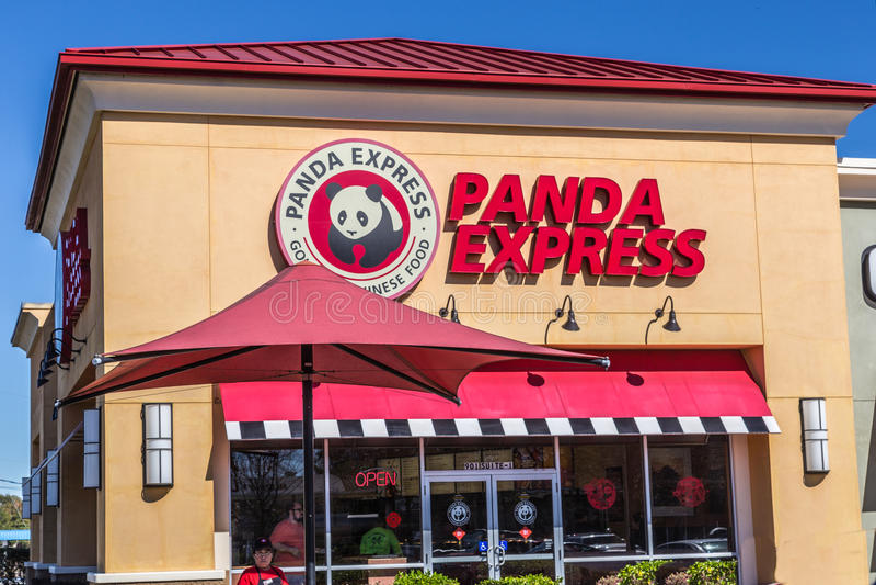 Panda Express Fast Food royalty free stock photos