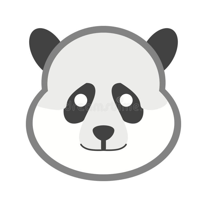 Panda Face illustration de vecteur