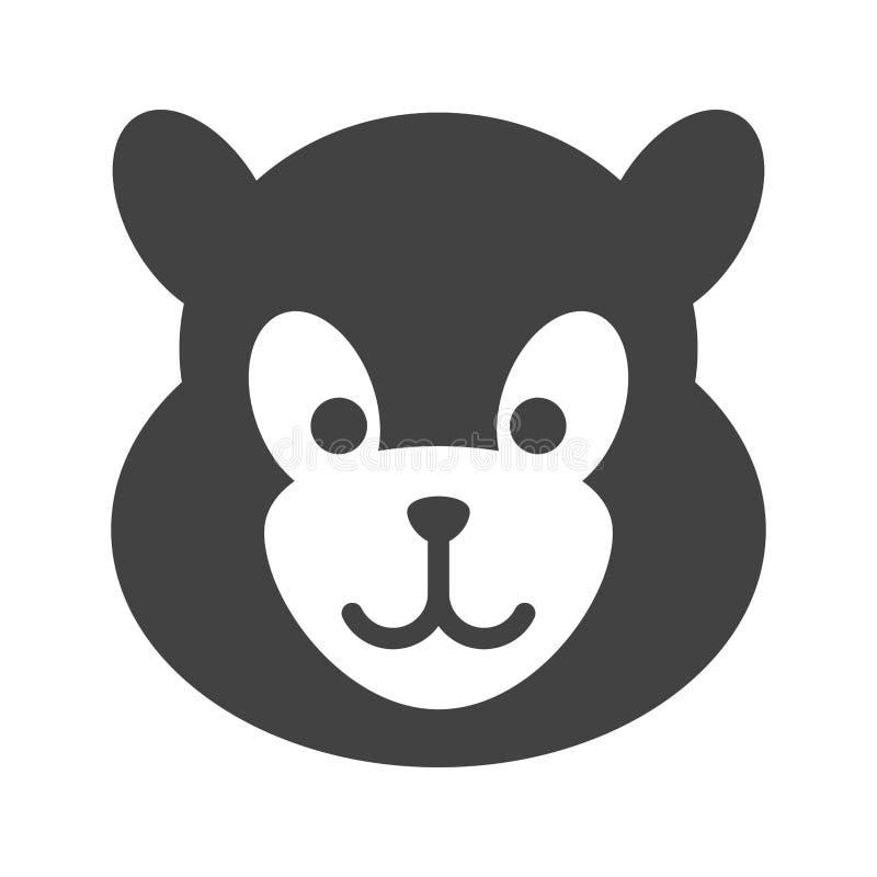 Panda Face illustration stock