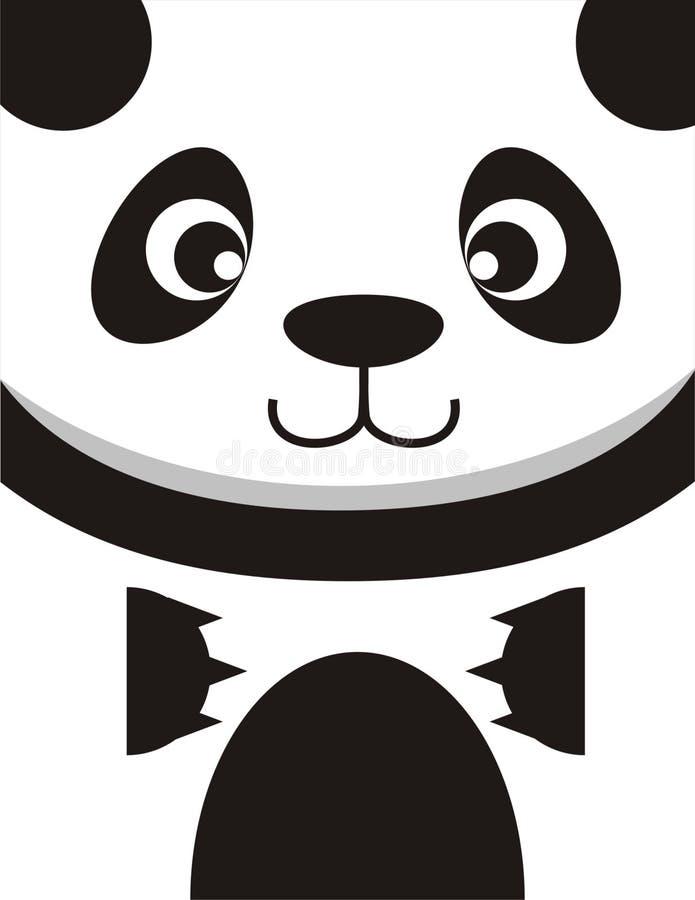 Panda Face Card ilustración del vector