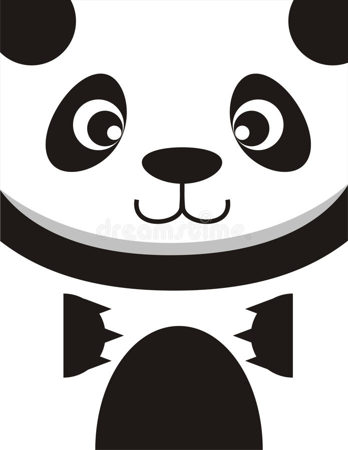 Panda Face Card vector illustration