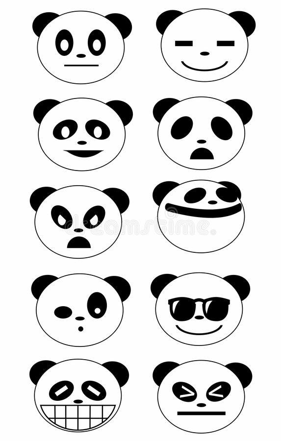 Panda Face Expression illustration de vecteur