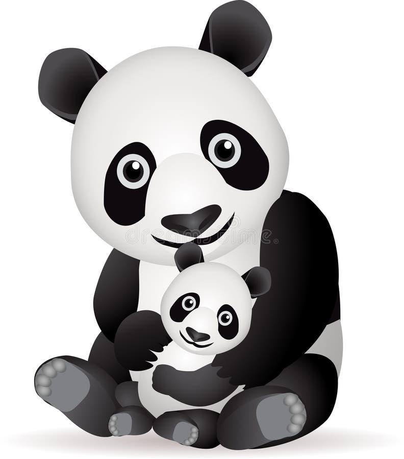 Download Panda family stock vector. Image of panda, illustration - 17775026