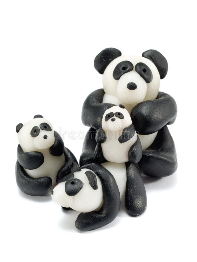 Panda Family foto de archivo