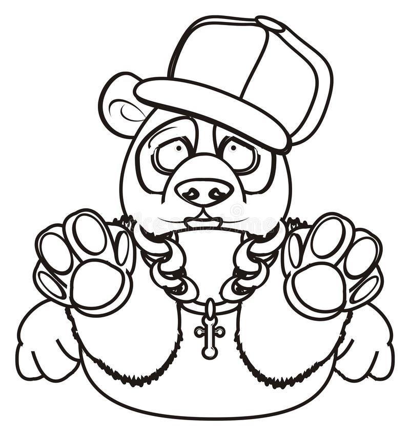 Download Panda frais de coloration illustration stock. Illustration du frais - 77150910