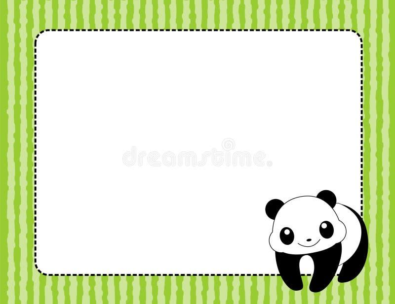 Panda frame / border vector illustration