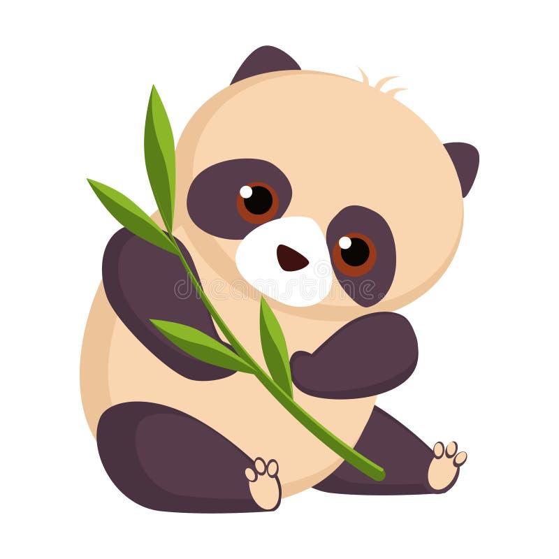 Panda. Funny Alphabet, Animal Vector Illustration. Panda. Funny Alphabet, Colourful Animal Vector Illustration stock illustration