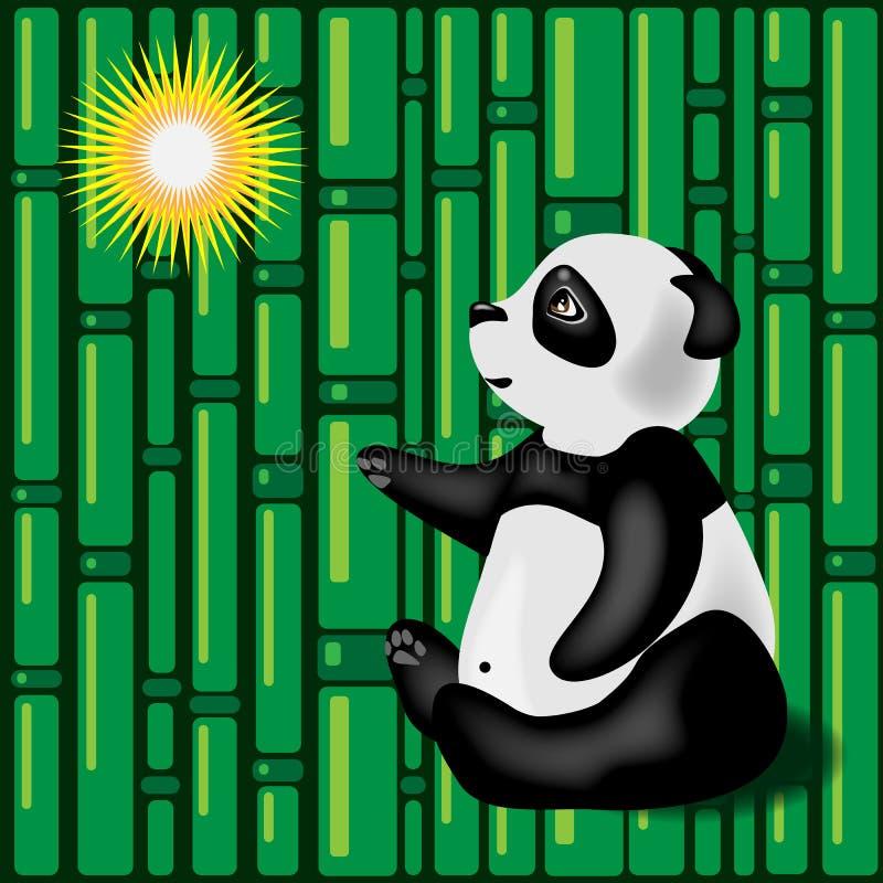 Panda gigante ilustração royalty free