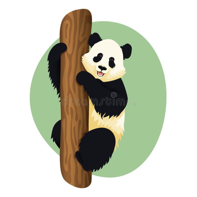 Panda gigante em uma árvore ilustração do vetor