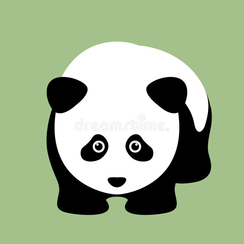 Panda head face illustration royalty free illustration