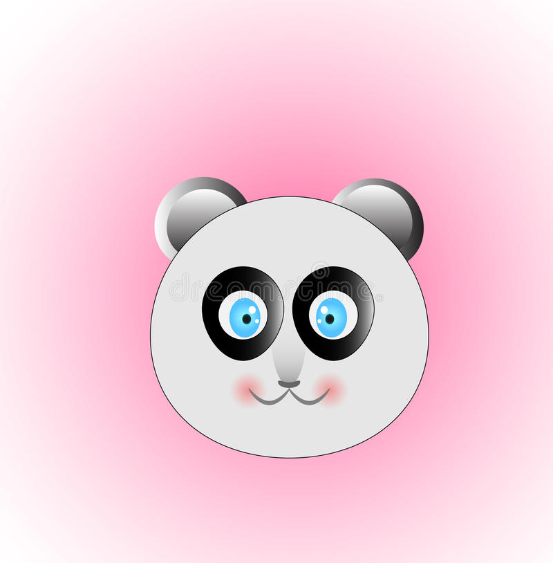 Panda head vector stock images