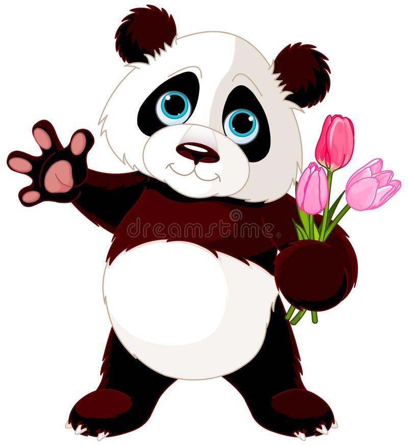 Panda heureux illustration de vecteur
