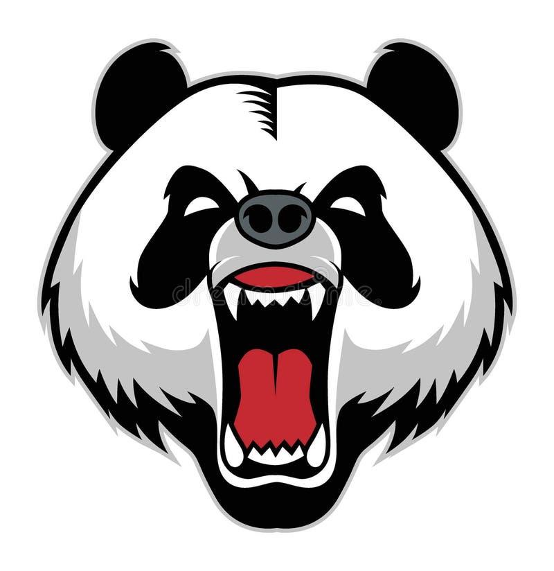 Panda hoofdmascotte stock foto