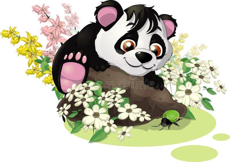 Panda i pluskwa royalty ilustracja