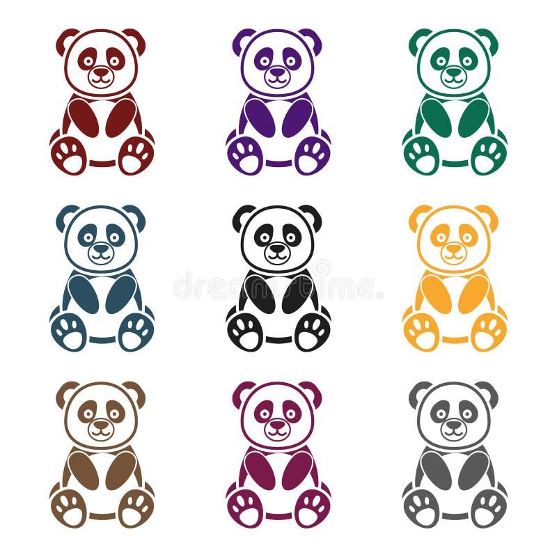 Panda Icon In Black Style Isolated On White Background Animals