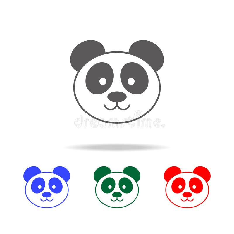 Panda icon. Elements of Chinese culture multi colored icons. Premium quality graphic design icon. Simple icon for websites, web de vector illustration