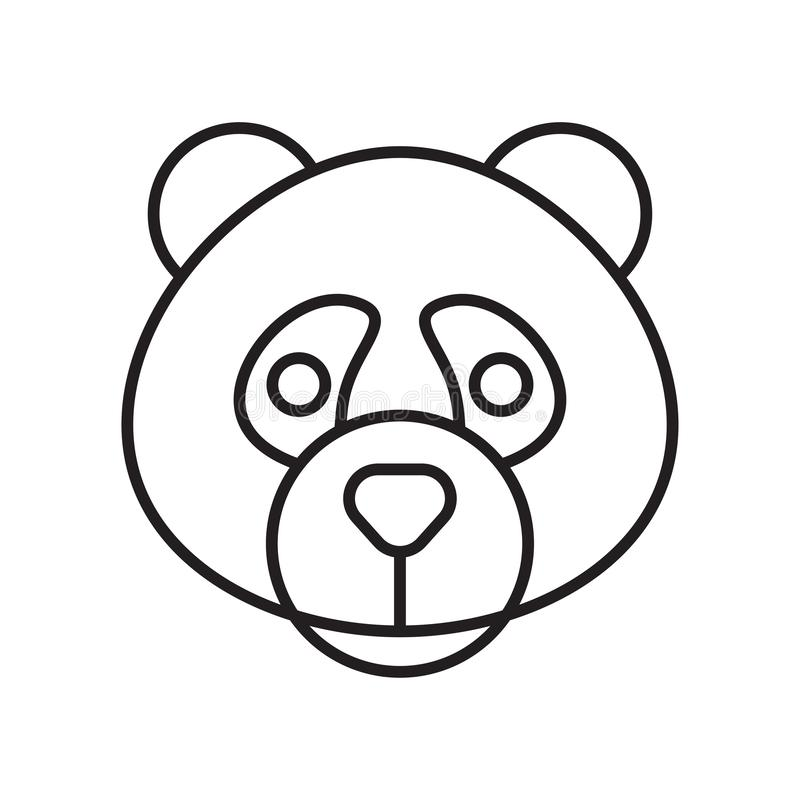 Panda icon vector sign and symbol isolated on white background royalty free illustration