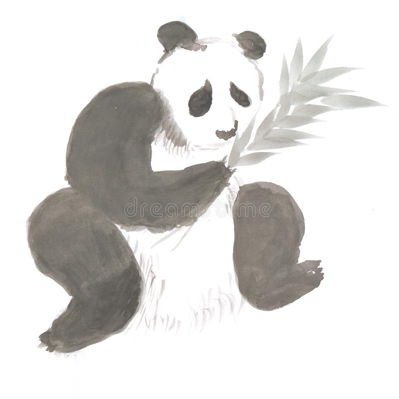 panda im bambus stock illustrationen vektors  klipart