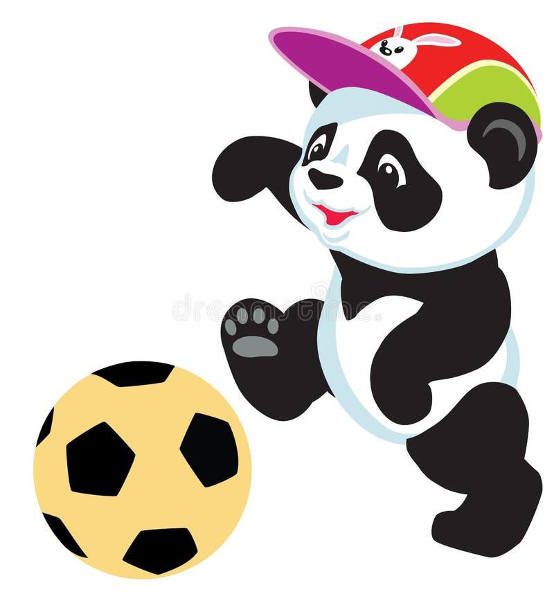 Panda jouant avec la boule illustration de vecteur