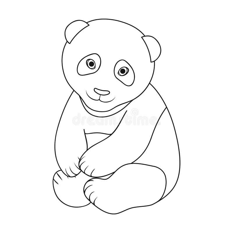 Panda Les animaux choisissent l'icône en Web d'illustration d'actions de symbole de vecteur de style d'ensemble illustration libre de droits