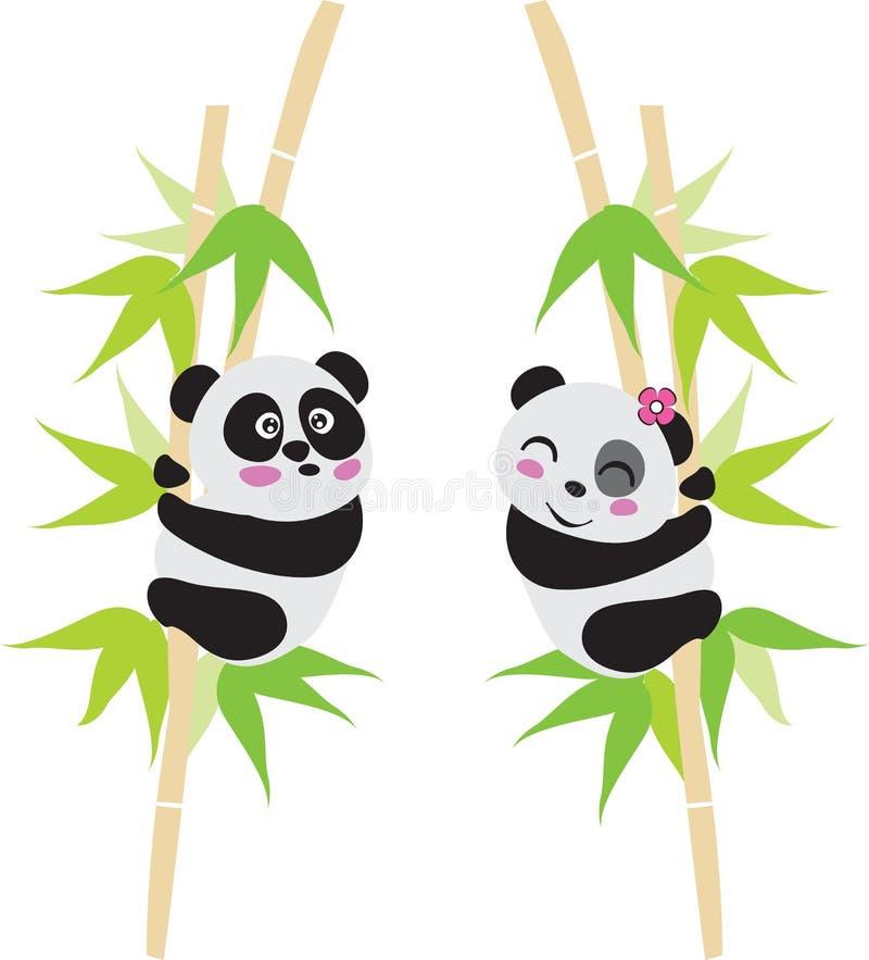 Panda-Liebe vektor abbildung