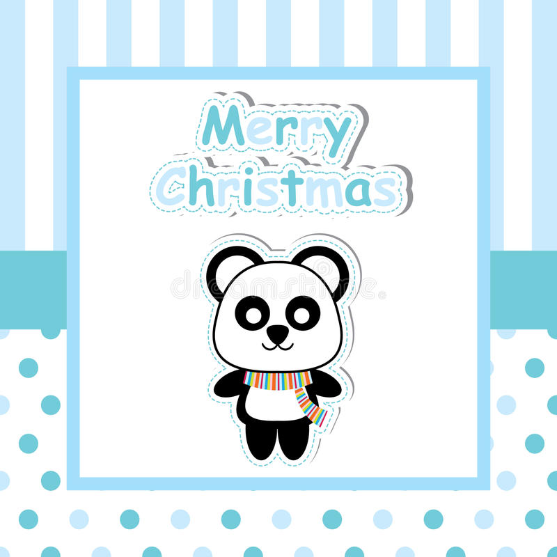 Panda Linda En Historieta Azul Del Marco, La Postal De Navidad, El ...