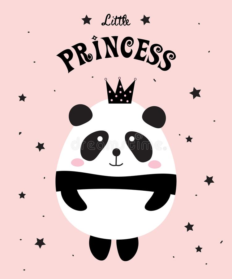 Panda Little Princess illustrazione vettoriale