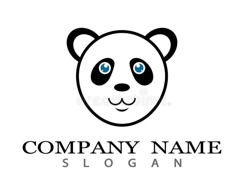 Panda loga szablon royalty ilustracja