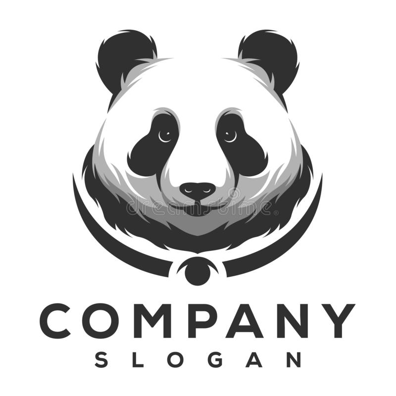 Panda logo design ready to use vector illustration