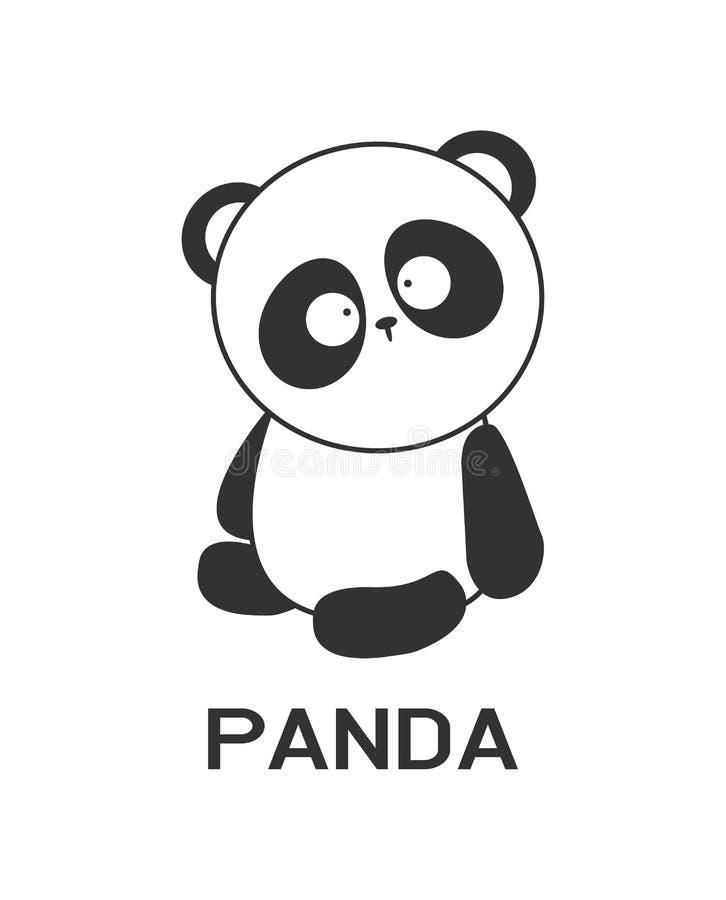 Panda Logo-draagt de ontwerp vector, dierlijke dierentuin Logotype conceptenpictogram vector illustratie