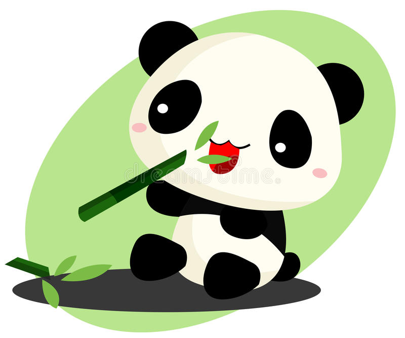 Panda mangeant le bambou illustration libre de droits