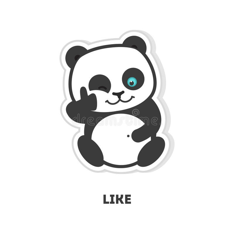 Panda med som stock illustrationer