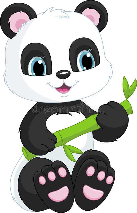 Panda mignon illustration de vecteur