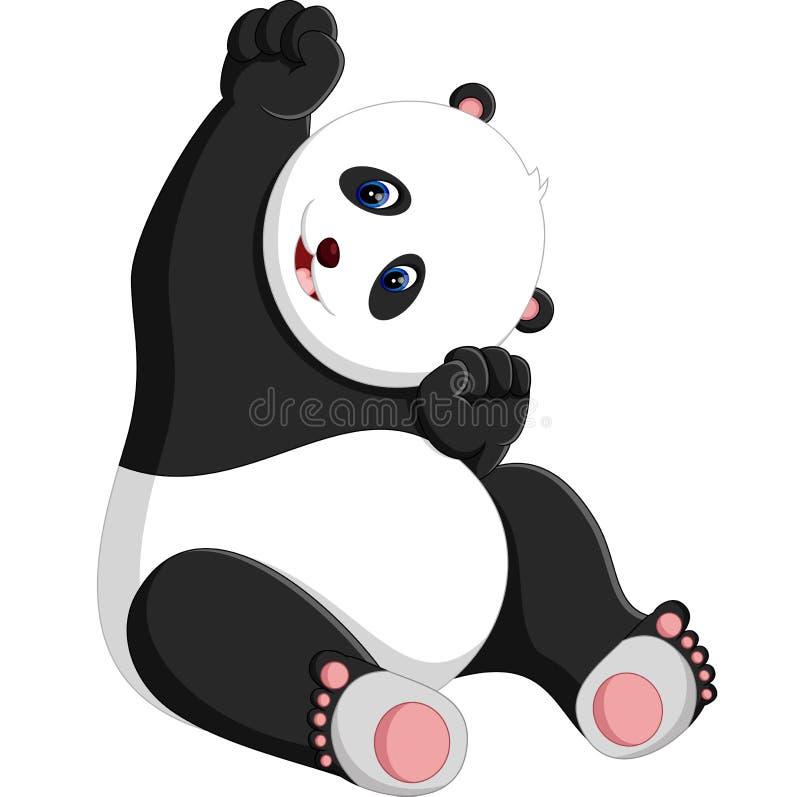 Panda mignon illustration libre de droits