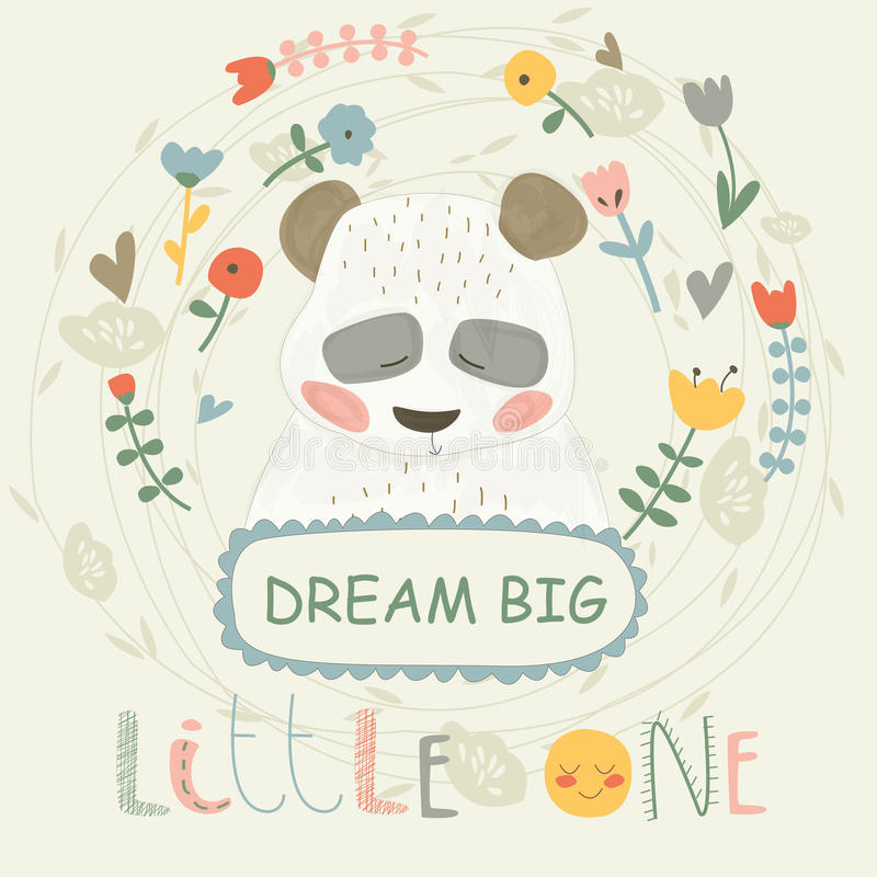Panda mignon illustration libre de droits