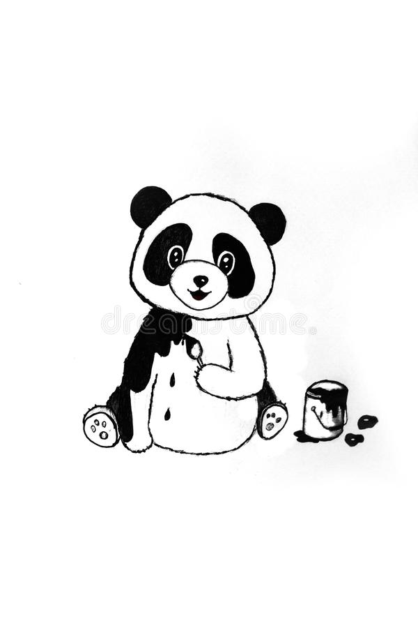 Panda mignon illustration de vecteur