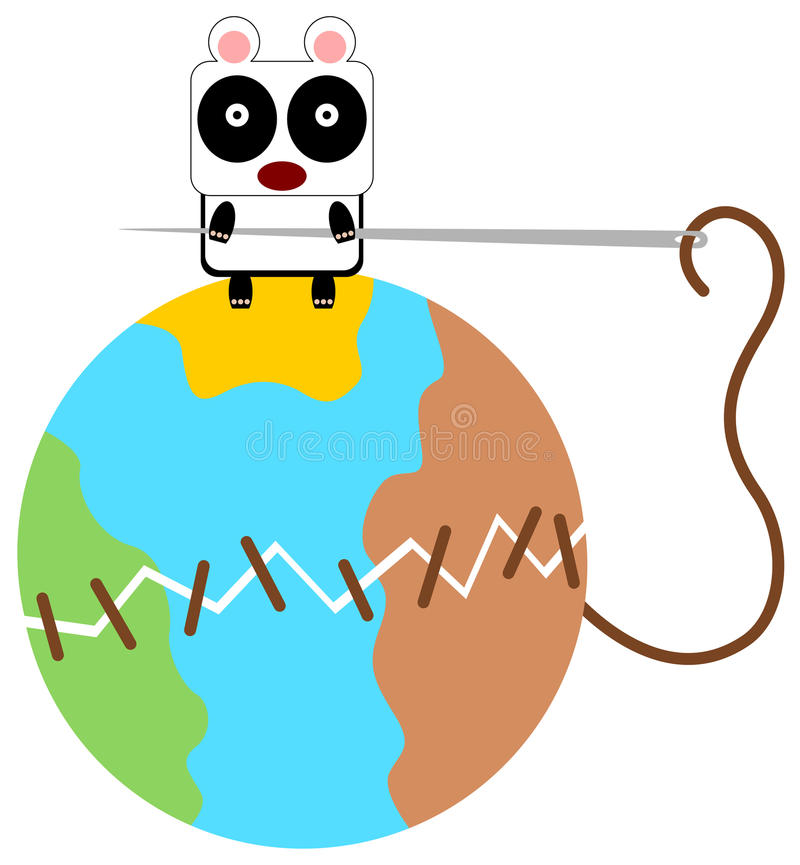 Panda może ścieg ilustracji