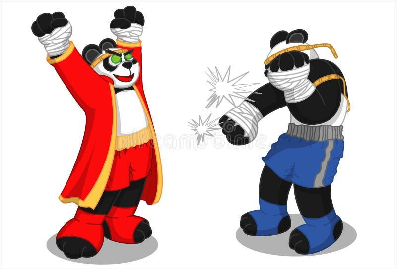 Panda-Muay Thaise Nieuwe Actie 2 stock afbeeldingen