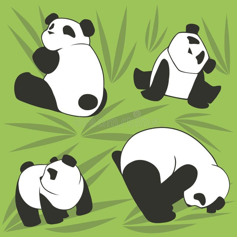 PANDA NAADLOZE 1 stock illustratie
