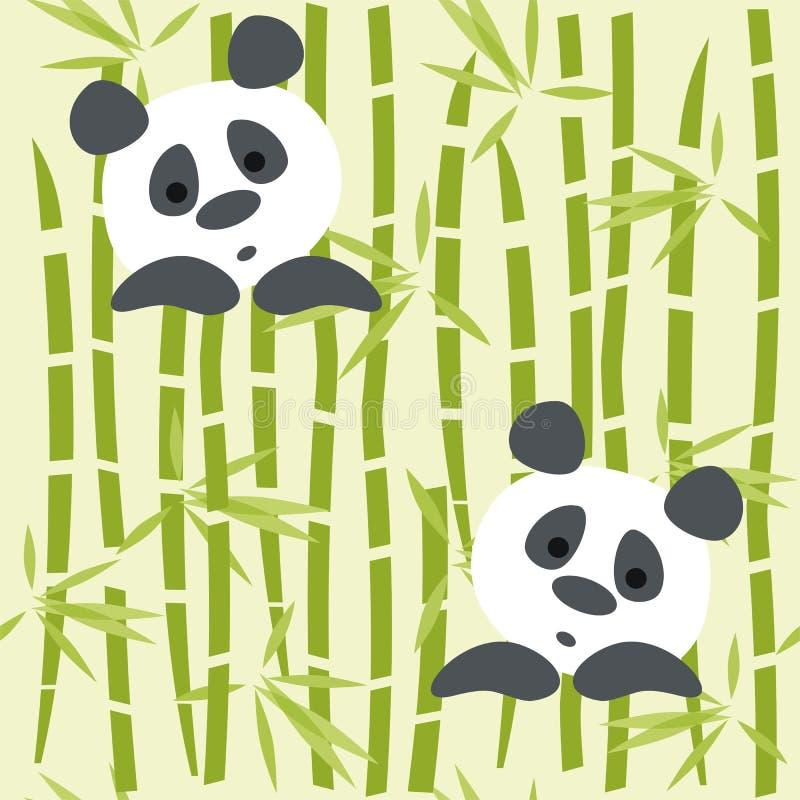 Panda niedźwiedzie ilustracja wektor