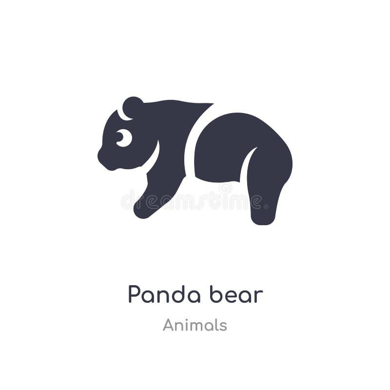Panda nied?wiedzia ikona odosobnionej panda niedźwiedzia ikony wektorowa ilustracja od zwierząt inkasowych editable ?piewa symbol ilustracja wektor