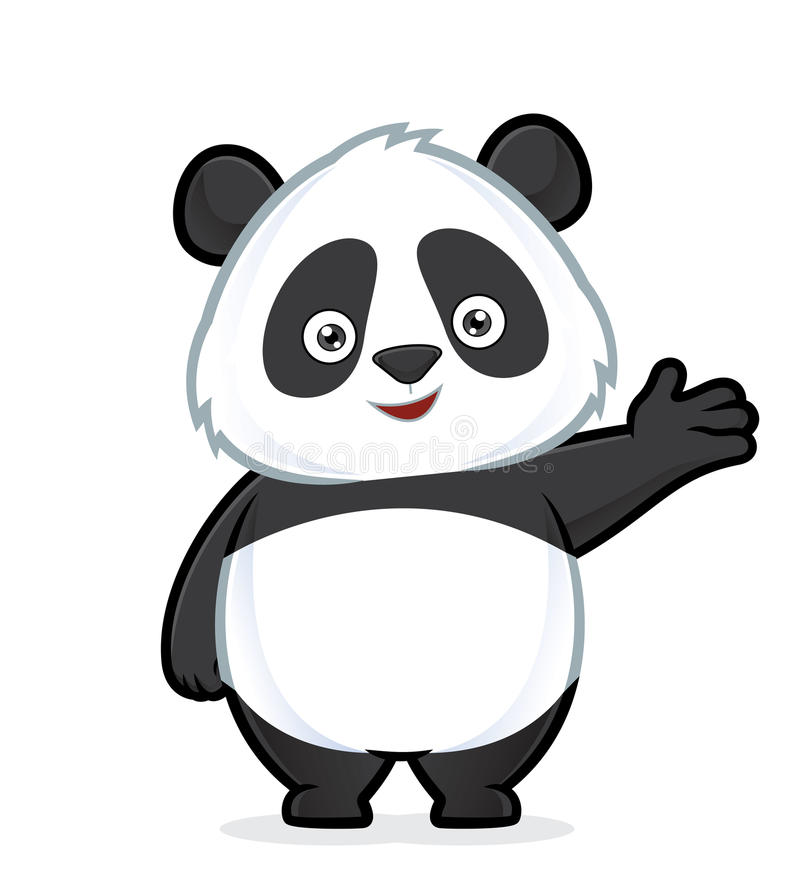 Panda no gesto de acolhimento ilustração royalty free
