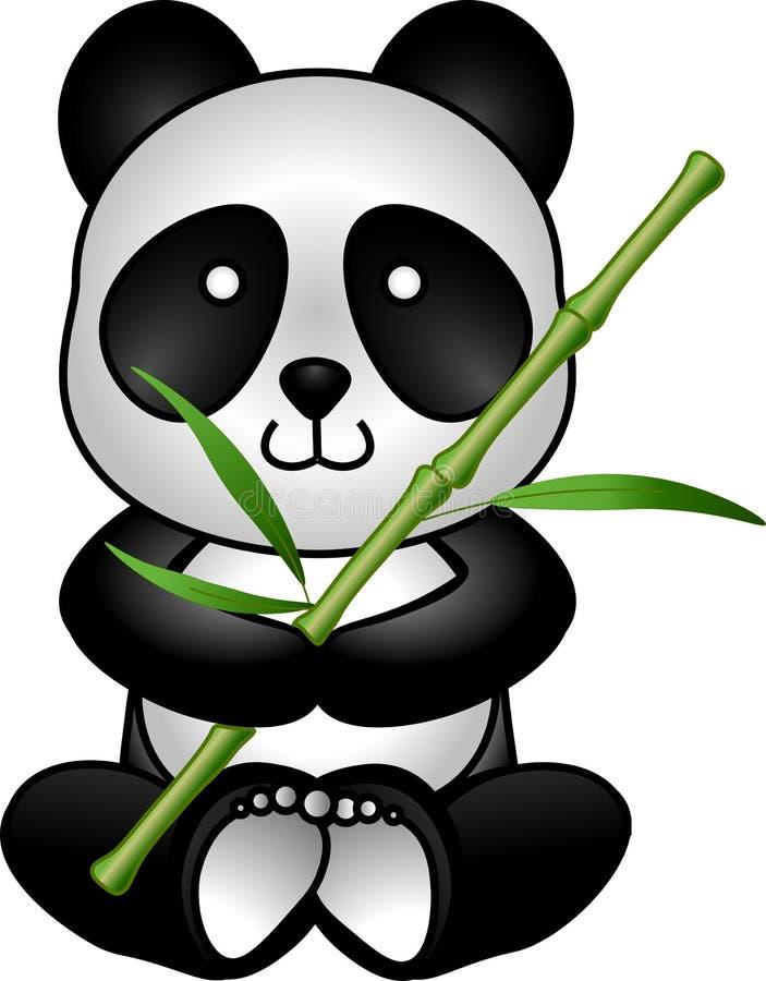 Panda och bambu arkivbilder