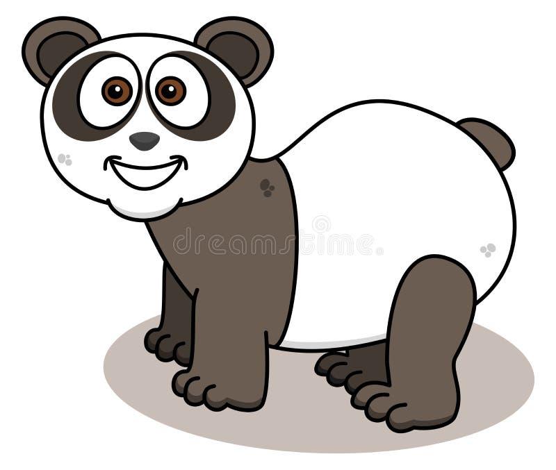 Download Panda Ono Uśmiecha Się Na Profilu Ilustracji - Ilustracja złożonej z owłosiony, teddy: 57662597