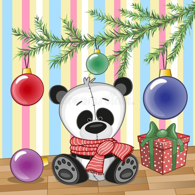 Panda pod drzewem ilustracji